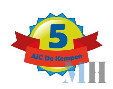 Logo 5 jarig bestaan AIC De Kempen