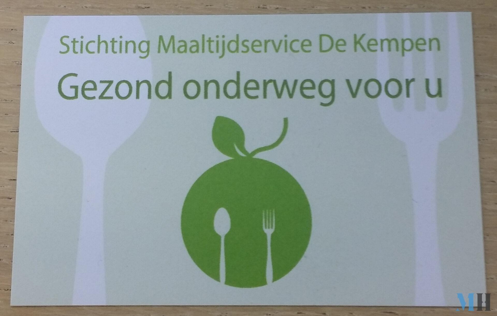 Visitekaartje Maaltijdservice de Kempen achterkant