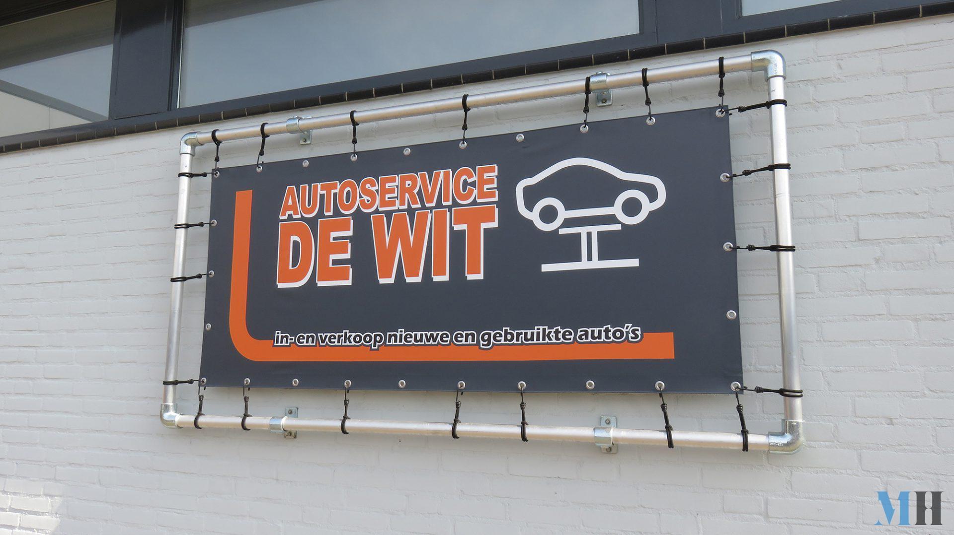Banner pand Autoservice de Wit