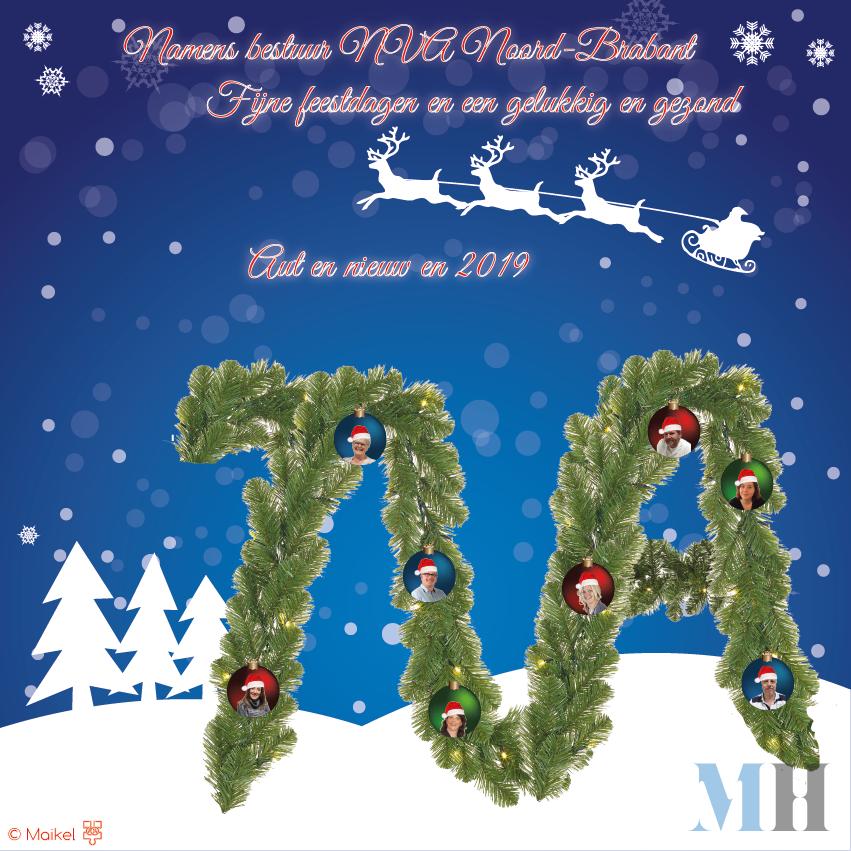 Kerstkaart NVA Noord-Brabant 2019