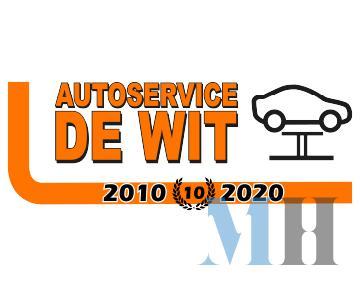 Logo 10 jarig bestaan Autoservice de Wit