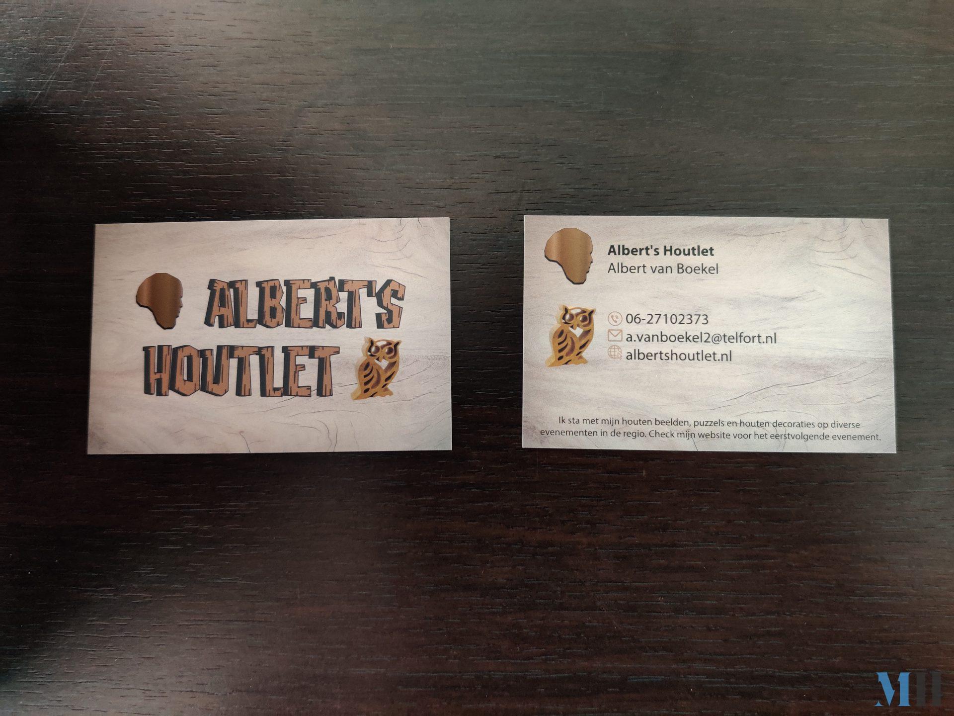 Visitekaartje Albert's Houtlet